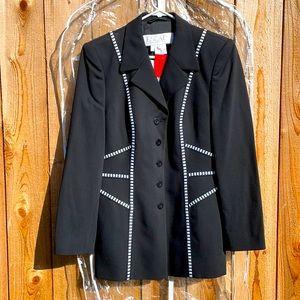 ESCADA NWT Black & White Black Vintage Blazer